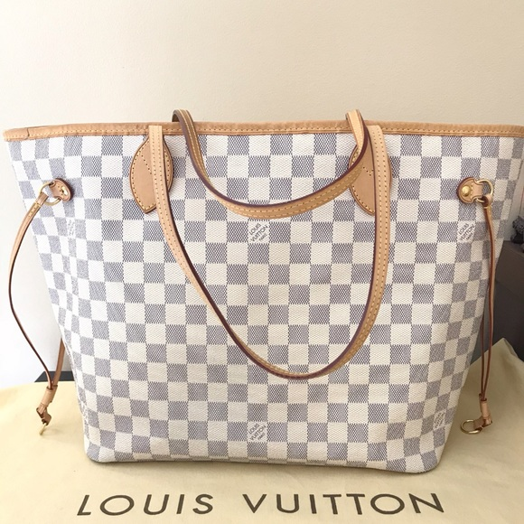 7e84ed24ac15 Louis Vuitton Handbags - Authentic Louis Vuitton Neverfull MM Damier Azur
